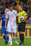 10.08.2019, wohninvest Weserstadion, Bremen, GER, DFB-Pokal, 1. Runde, SV Atlas Delmenhorst vs SV Werder Bremen<br /> <br /> DFB REGULATIONS PROHIBIT ANY USE OF PHOTOGRAPHS AS IMAGE SEQUENCES AND/OR QUASI-VIDEO.<br /> <br /> im Bild / picture shows<br /> <br /> Marco Friedl (Werder Bremen #32)<br /> hiedsrichter / referee)<br /> Foto © nordphoto / Kokenge