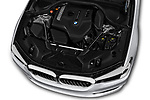Car Stock 2019 BMW 5-Series 530I-Sport-Line 4 Door Sedan Engine  high angle detail view
