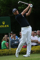 Robert Karlsson tees off on the 14th hole during the 3rd round of the 2008 BMW PGA Championship at Wentworth Club, Surrey, England 24th May 2008 (Photo by Eoin Clarke/GOLFFILE)