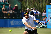 June 17th 2017, Nottingham, England; ATP Aegon Nottingham Open Tennis Tournament day 6;  Backhand from Thomas Fabbiano of Italy who defeated Sam Groth of Australia in the semi final