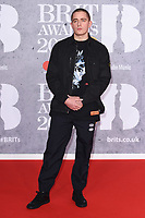 LONDON, UK. February 20, 2019: Dermot Kennedy arriving for the BRIT Awards 2019 at the O2 Arena, London.<br /> Picture: Steve Vas/Featureflash<br /> *** EDITORIAL USE ONLY ***