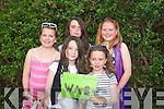 0340-0342.---------.parade.------.Taking part in the annual parade through the village fot the Fe?ile Lughnasa,gClacha?n/Bhre?anainn festival,the village wags of Kate&Kayla O'Neill,Shauna Quirke,Finna Cullinane and Hannah Nix.