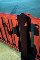 Self portrait on the Golden Gate Bridge in San Francisco, 1994.