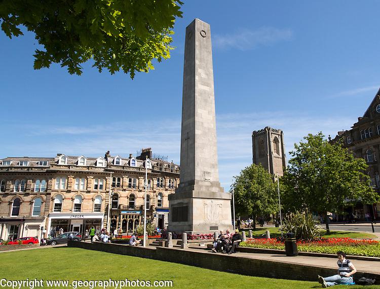 Cenotaph war memorial in Harrogate town centre, Yorkshire, England, UK