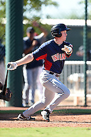 Cleveland Indians infielder Austin Fisher (16) during an Instructional League game against the Seattle Mariners on October 1, 2014 at Goodyear Training Complex in Goodyear, Arizona.  (Mike Janes/Four Seam Images)