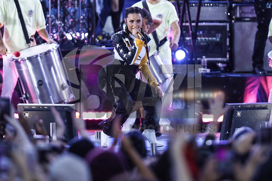 NEW YORK, EUA, 18.08.2017 - DEMI-LOVATO - A cantora norte-americana Demi Lovato durante apresentação no Central Park, na cidade de Nova York, na manhã desta sexta-feira, 18. (Foto: Vanessa Carvalho/Brazil Photo Press)