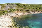 Coastal scenery at Lamorna Cove, Cornwall, England, UK