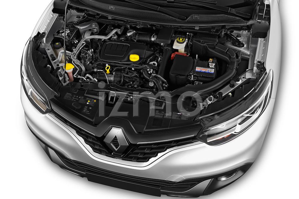 Car Stock 2015 Renault Kadjar Bose Edition 5 Door Suv 2WD Engine  high angle detail view