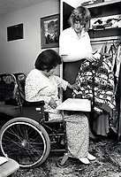 Carer & elderly woman UK 1992