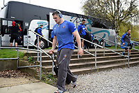 Shaun Knight and the rest of the Bath Rugby team arrive at Allianz Park. Aviva Premiership match, between Saracens and Bath Rugby on April 15, 2018 at Allianz Park in London, England. Photo by: Patrick Khachfe / Onside Images