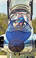 Mission Commander Kevin R. Kregel arrives at Kennedy Space Center, Titusville, FL, to begin the STS 99 mission in February 2000.  (Photo by Brian Cleary/www.bcpix.com)