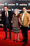 Cayetana Fitz James Stewart, Duchess of Alba, Alfonso Diez and Tom Cruise attend the 'Mission: Impossible - Ghost Protocol' Premiere at the Callao Cinema on December 12, 2011 in Madrid, Spain..Photo: ABR / ALFAQUI