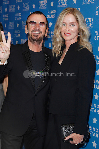 LOS ANGELES, CA - JANUARY 20: Ringo Starr and Barbara Bach at the David Lynch Foundation honors Ringo Starr with the 'Lifetime Of Peace & Love Award' held at the El Rey Theatre on January 20, 2014 in Los Angeles, California. Credit: StarShooter/MediaPunch