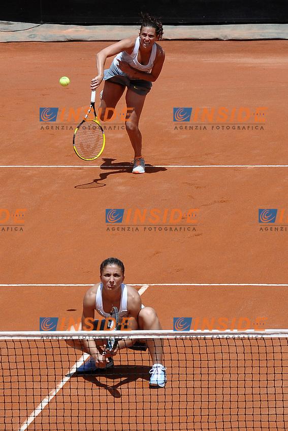 Sara Errani e Roberta Vinci.Roma 19/05/2013 Foro Italico .Tennis Internazionali d'Italia 2013 .Foto Antonietta Baldassarre Insidefoto