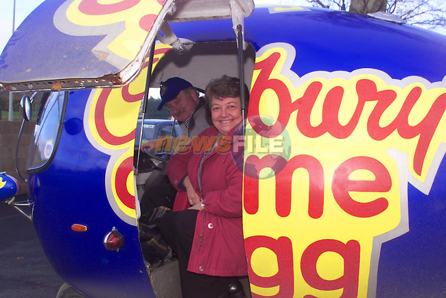 Norman and Anne Womack, who are traveling around Ireland promoting Cadbury's cream eggs..pic: Newsfile