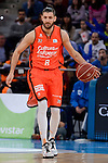 Valencia Basket's Antoine Diot during 2017 King's Cup match between Real Madrid and Valencia Basket at Fernando Buesa Arena in Vitoria, Spain. February 19, 2017. (ALTERPHOTOS/BorjaB.Hojas)