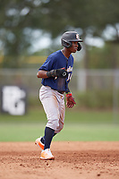 Bryant Zayas (14) during the WWBA World Championship at the Roger Dean Complex on October 11, 2019 in Jupiter, Florida.  Bryant Zayas attends Mater Academy Lakes High School in Hialeah, FL and is committed to North Carolina State.  (Mike Janes/Four Seam Images)