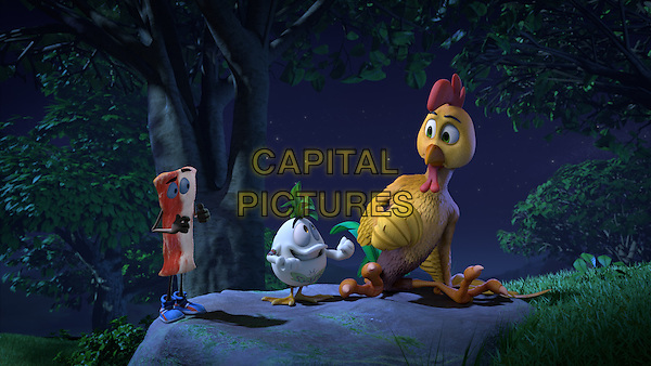 Un gallo con muchos huevos (2015) <br /> Tocino with Patin Patan (Voiced by Omar Chaparro) and Toto (Voiced by Bruno Bichir)<br /> *Filmstill - Editorial Use Only*<br /> CAP/KFS<br /> Image supplied by Capital Pictures