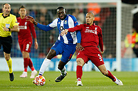 Moussa Marega of FC Porto and Fabinho of Liverpool in action during the UEFA Champions League Quarter Final first leg match between Liverpool and Porto at Anfield on April 9th 2019 in Liverpool, England. (Photo by Daniel Chesterton/phcimages.com)<br /> Foto PHC/Insidefoto <br /> ITALY ONLY
