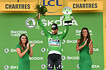 Peter Sagan (SVK) Bora-Hansgrohe retains the Green Jersey at the end of Stage 7 of the 2018 Tour de France running 231km from Fougeres to Chartres, France. 13th July 2018. <br /> Picture: ASO/Pauline Ballet | Cyclefile<br /> All photos usage must carry mandatory copyright credit (&copy; Cyclefile | ASO/Pauline Ballet)
