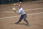 30 MAY 2016: Courtney Allen (1) of Messiah College fields her position during the first game of the Division III Women's Softball Championship held at the James I Moyer Sports Complex in Salem, VA.  University of Texas-Tyler defeated Messiah College 7-0 for the national title. Don Petersen/NCAA Photos