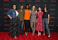 LOS ANGELES, CA - MAY 30: Britney Young, Marc Maron, Sydelle Noel, Betty Gilpin, Alison Brie, Carly Mensch, at the #NETFLIXFYSEE Glow Event at NETFLIX FYSEE Raleigh Studios in Los Angeles, California on May 30, 2018. <br /> CAP/MPIFS<br /> &copy;MPIFS/Capital Pictures
