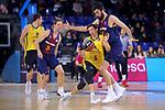 League ACB-ENDESA 2017/2018 - Game: 11.<br /> FC Barcelona Lassa vs Iberostar Tenerife: 91-93.<br /> Nicolas Richotti vs Pierre Oriola.