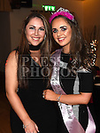 Shayleigh Maguire celebrating her 18th birthday in The Glenside hotel with friend Rebecca Donnelly. Photo:Colin Bell/pressphotos.ie