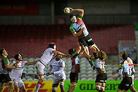 Charlie Matthews of Harlequins 'A' was dominant in the lineout during the Aviva Premiership A League Final between Harlequins A and Saracens Storm at the Twickenham Stoop on Monday 17th December 2012 (Photo by Rob Munro)