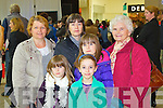 Pictured at the Manor West Retail Park 10th Anniversary Celebrations from left: June Noonan, Rachel Musgrave, Sylvia Musgrave, Sarah Musgrave, Samantha Musgrave and Olive Hoffman from Tralee and Limerick.
