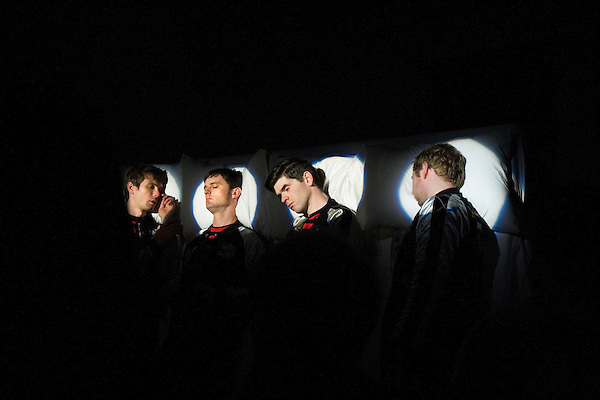 Franz Ferdinand video shoot &quot; Do You Want To&quot; in  Manhattan.<br />