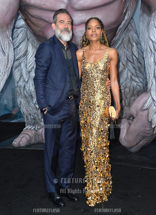 Naomie Harris &amp; Jeffrey Dean Morgan at the premiere for &quot;Rampage&quot; at the Microsoft Theatre, Los Angeles, USA 04 April 2018<br /> Picture: Paul Smith/Featureflash/SilverHub 0208 004 5359 sales@silverhubmedia.com