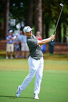 Alex Noren (SWE) watches his approach shot on 10 during Sunday's final round of the PGA Championship at the Quail Hollow Club in Charlotte, North Carolina. 8/13/2017.<br /> Picture: Golffile | Ken Murray<br /> <br /> <br /> All photo usage must carry mandatory copyright credit (&copy; Golffile | Ken Murray)