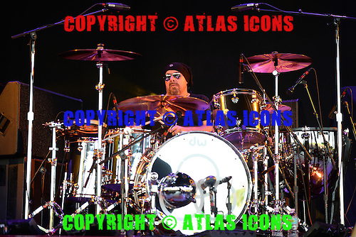 WEST PALM BEACH - JUNE 17:   Jason Bonham of Jason Bonham's Led Zeppelin Experience performs at the Cruzan Amphitheatre on June 17, 2013 in West Palm Beach, Florida.<br /> (Photo By Larry Marano /Atlasicons)