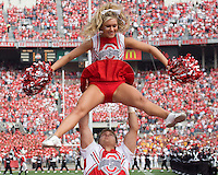 September 27, 2008: Ohio State cheerleader. The Ohio State Buckeyes defeated the Minnesota Gophers 34-21 on September 27, 2008 at Ohio Stadium, Columbus, Ohio.