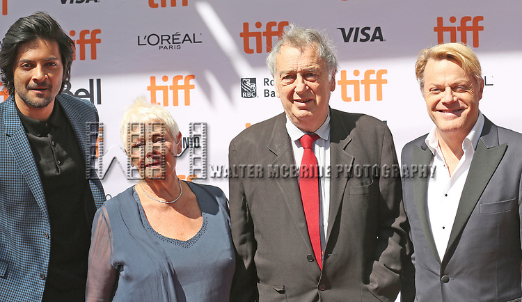 Ali Fazal, Judi Dench, Michael Gambon and Eddie Izzard attend the 'Victoria & Abdul' premiere during the 2017 Toronto International Film Festival at Princess of Wales Theatre on September 10, 2017 in Toronto, Canada.