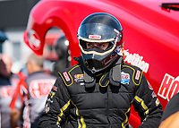 Sep 1, 2018; Clermont, IN, USA; NHRA top alcohol funny car driver Gary Pritchett during qualifying for the US Nationals at Lucas Oil Raceway. Mandatory Credit: Mark J. Rebilas-USA TODAY Sports