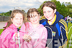 Sinead O'Donnell, Sarah Sheehan and Nicola Coffey trying to keep a steady hand at the Faha NS sports day in the Listry GAA grounds on Sunday    Copyright Kerry's Eye 2008
