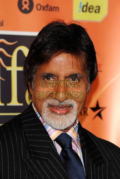 AMITABH BACHCHAN.The (IIFA) International Indian Film Academy Awards launch party held at Madame Tussauds, London, England..March 28th, 2007.headshot portrait goatee facial hair .CAP/PL.©Phil Loftus/Capital Pictures