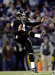 31 December 2006: Baltimore Ravens punter Sam Koch (4) in action during a game against the Buffalo Bills at M&T Bank Stadium in Baltimore, Maryland. The Ravens defeated the Bills 19-7. Mandatory Photo Credit: Ed Wolfstein Photo.<br />
