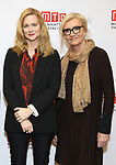 "Laura Linney and Elizabeth Strout during the ""My Name Is Lucy Barton"" Photo Call at the MTC Rehearsal Studio on December 12, 2019 in New York City."