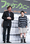"December 3, 2012, Tokyo, Japan - (L-R) Director Tim Burton and Japanese TV comedian Haruka Minowa attend a press conference for the film, ""Frankenweenie."" The film will be released in Japan movie theaters on December 15. (Photo by Christopher Jue/Nippon News)"