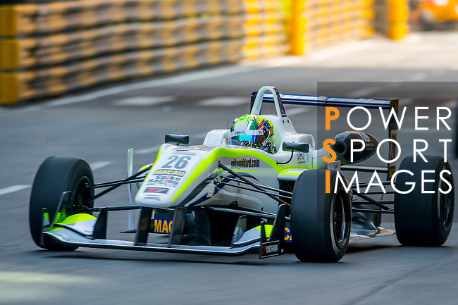 Richard Goddard races the Formula 3 Macau Grand Prix during the 61st Macau Grand Prix on November 15, 2014 at Macau street circuit in Macau, China. Photo by Aitor Alcalde / Power Sport Images