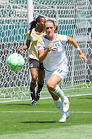 Brittney Bock #11 of the Los Angeles Sol looks to stop a loose ball against FC Gold Pride during their match at Home Depot Center on April 19, 2009 in Carson, California.
