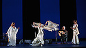 London, UK. 28.02.2016. Sadler's Wells presents Esperanza Fernandez in DE LO JONDO Y VERDADERO, as part of the Flamenco Festival London 2016. Picture shows: Esperanza Fernandez, Ana Morales, Miguel Angel Cortes, Marina Heredia. Photograph © Jane Hobson.