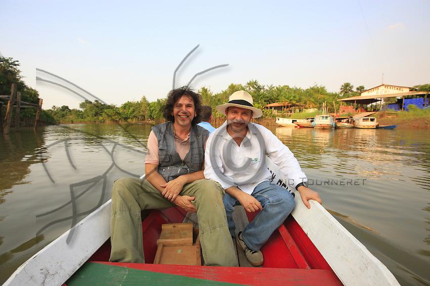 Portrait of Giorgio Venturieri and Eric Tourneret.