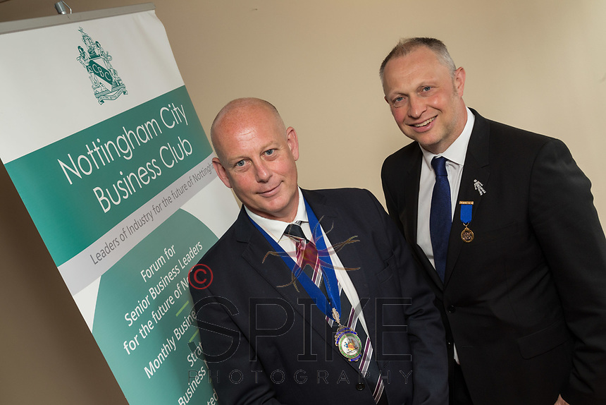 Pictured from left, new President Ian Roberts and immediate past Presdient Mark Deakin
