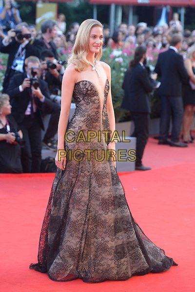 Eva Riccobono<br /> attending the Closing Ceremony of the 70th Venice International Film Festival at Palazzo del Cinema in Venice, Italy, September 7th 2013.<br /> full length black lace sheer nude beige mesh dress <br /> CAP/ZZG<br /> &copy;ZZG/Capital Pictures