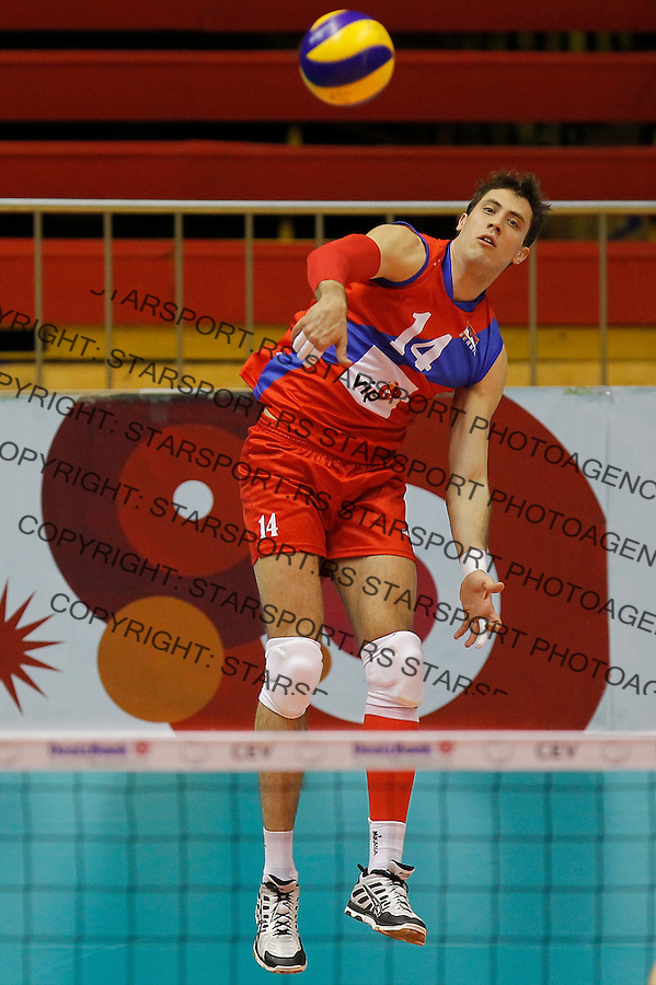 Odbojka Volleyball<br /> Srbija v Bugarska-Prijateljski mec<br /> Aleksandar Atanasijevic<br /> Beograd, 29.12.2015.<br /> foto: Srdjan Stevanovic/Starsportphoto &copy;