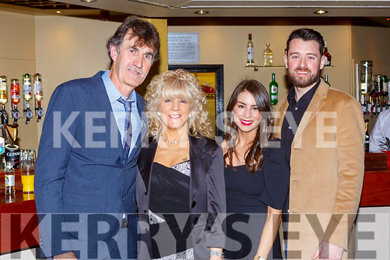 Maurice Foley, Teresa Foley, Emma O'Connor and Brendan Moloney Beaufort at the Kerry Sports awards show in the Gleneagle Hotel on Friday night
